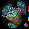 Pulsed arterial spin labeling perfusion map overlaid onto 3D MPRAGE